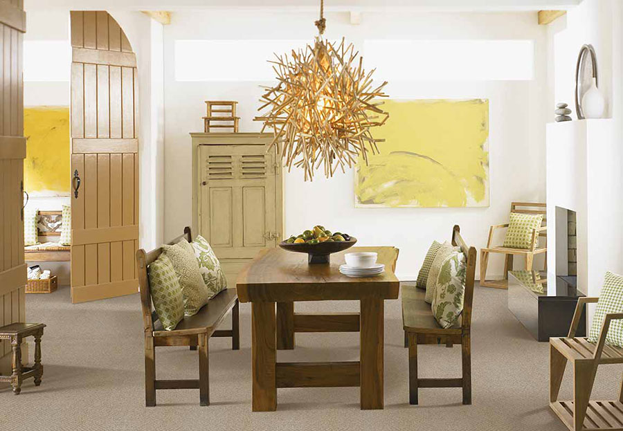 Dining room styled to add the right amount of texture