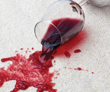 Red Wine Spilled on Carpet